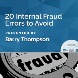 20 Internal Fraud Errors to Avoid