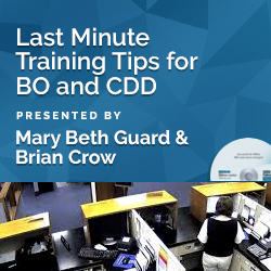 Last Minute Training Tips for BO and CDD