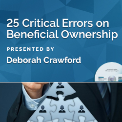 25 Critical Errors on Beneficial Ownership