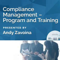 Compliance Management – Program and Training