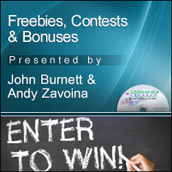 Freebies, Bonuses and Contests