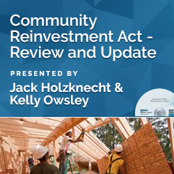 Community Reinvestment Act - Review and Update