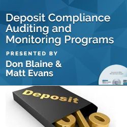 Deposit Compliance Auditing and Monitoring Programs