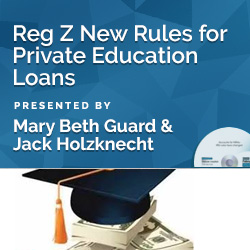 Reg Z New Rules for Private Education Loans