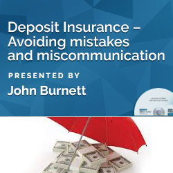 Deposit Insurance – Avoiding mistakes and miscommunication