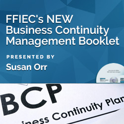 Hot Topic!!! New FFIEC Business Continuity Management Handbook