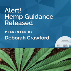 Alert! Hemp Guidance Released
