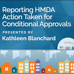Reporting HMDA Action Taken for Conditional Approvals