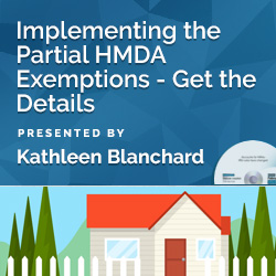 Implementing the Partial HMDA Exemptions - Get the Details