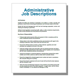 *Administrative Job Descriptions