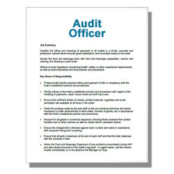 Audit Officer