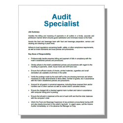 Audit Specialist - Click Image to Close