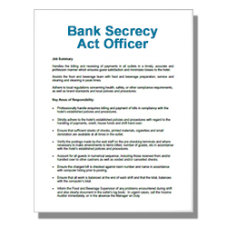 Bank Security and Safety Officer