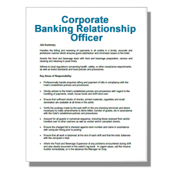 Corporate Banking Relationship Officer