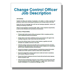 Change Control Officer Job Description
