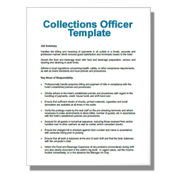 Collections Officer Template