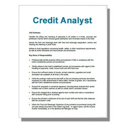 Credit Analyst - Click Image to Close