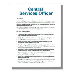 Central Services Officer