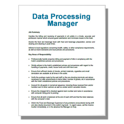 Data Processing Manager