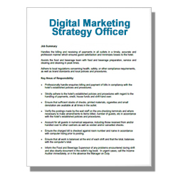 Digital Marketing Strategy Officer