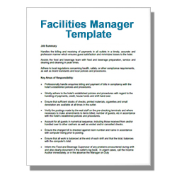 Facilities Manager Template