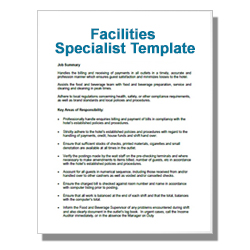 Facilities Specialist Template