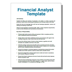 Financial Analyst Template