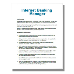 Internet Banking Manager