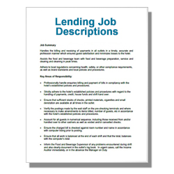 *Lending Job Descriptions
