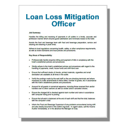 Loan Loss Mitigation Officer