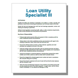 Loan Utility Specialist III - Click Image to Close