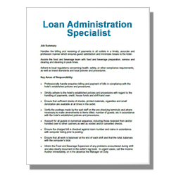 Loan Administration Specialist