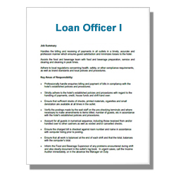 Loan Officer I