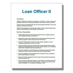 Loan Officer II