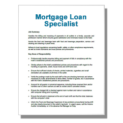 Mortgage Loan Specialist