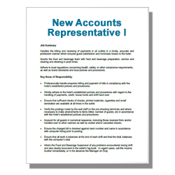New Accounts Representative I