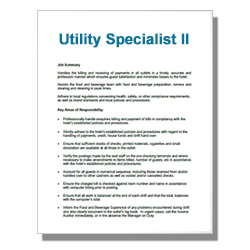 Utility Specialist II - Click Image to Close