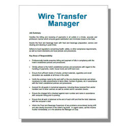 Wire Transfer Manager