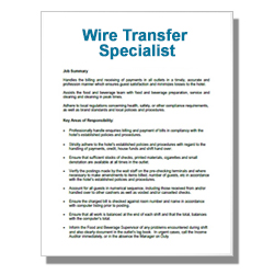 Wire Transfer Specialist