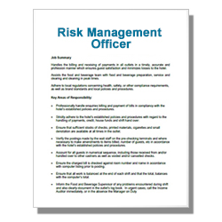 Risk Management Officer