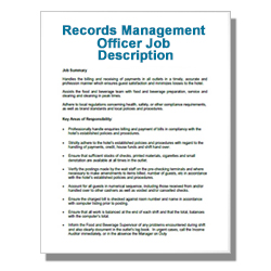 Records Management Officer Job Description