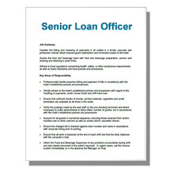 Senior Loan Officer