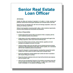 Senior Real Estate Loan Officer