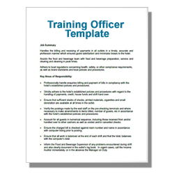 Training Officer Template