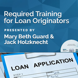 Required Training for Loan Originators