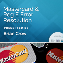 MasterCard & Reg E Error Resolution