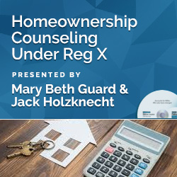 Homeownership Counseling Under Reg X
