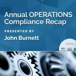 Annual Operations Compliance Recap