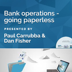 Bank operations - going paperless