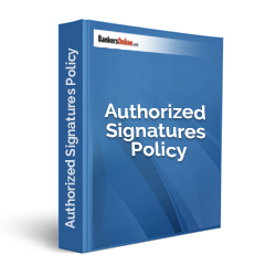 Authorized Signatures Policy